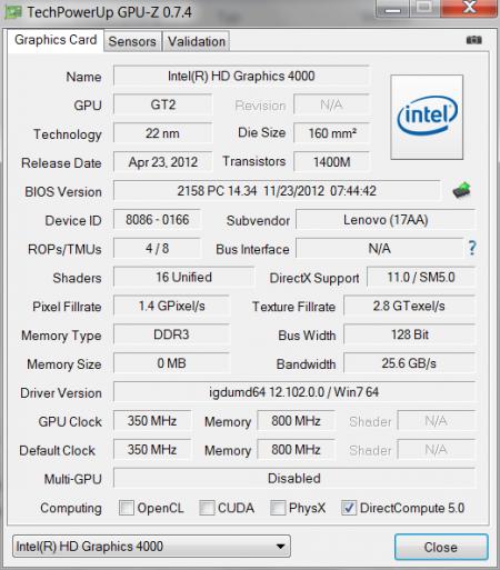 GPU-Z Intel
