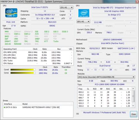 HWiNFO64 Intel