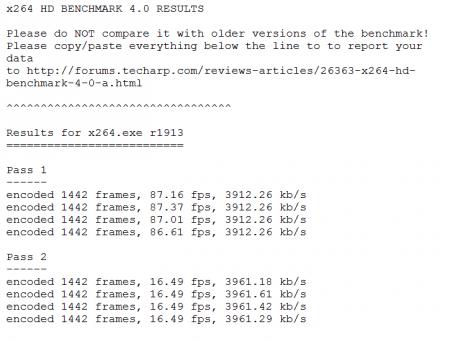 x264 Bench HD 4