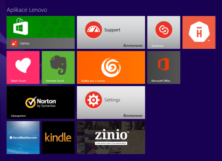 Aplikace Lenovo